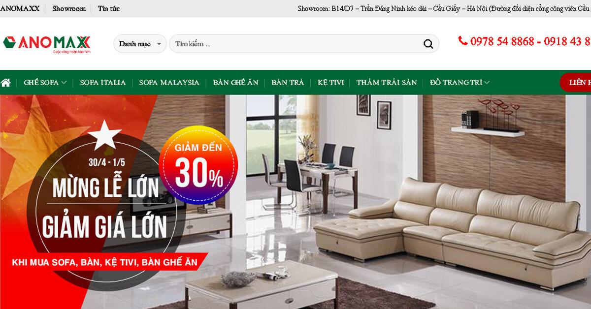 Anomaxx – Top siêu thị nội thất uy tín hàng đầu tại Việt Nam