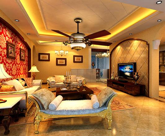 quạt trần trang trí phòng khách đẹp