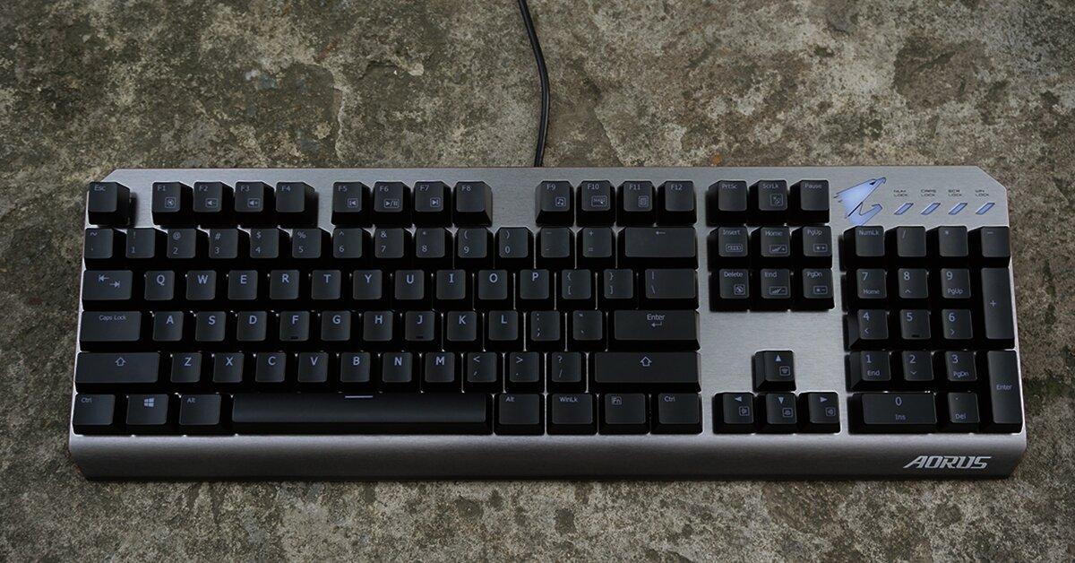 AORUS K7: Bàn phím cơ thiết kế góc cạnh thời trang, switch Cherry bấm đã tay giá 2,5 triệu