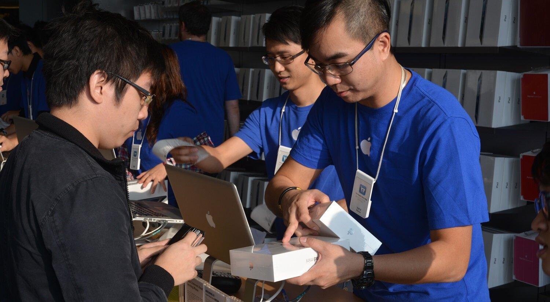 Apple vượt mặt Samsung để trở thành thương hiệu di động hàng đầu Trung Quốc