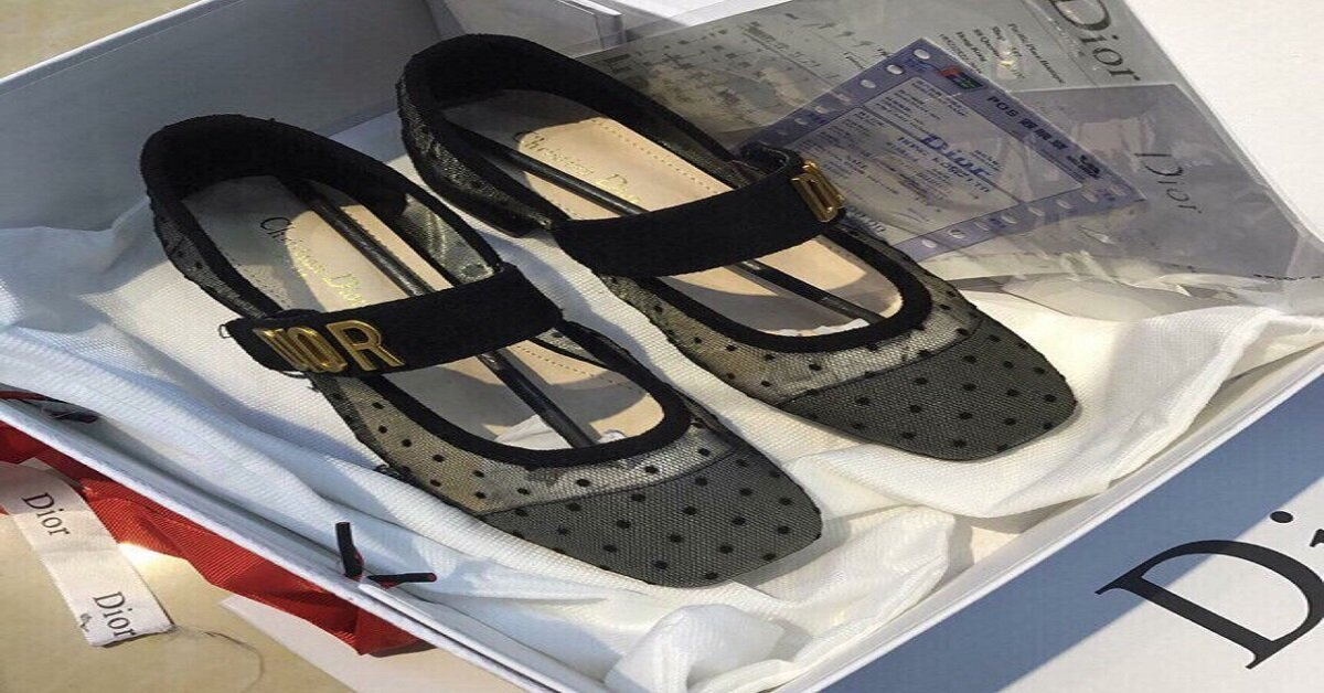 giày búp bê có quai lưới