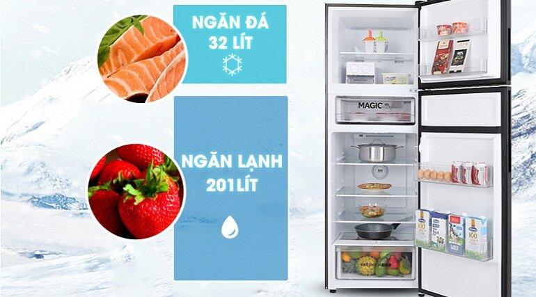 Tủ lạnh Aqua inverter 312 lít AQR-T359MA(GB) - Giá tham khảo khoảng: 10.00.000 vnđ