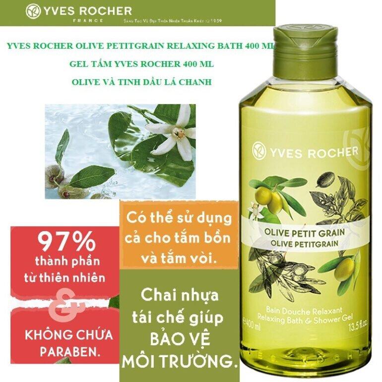 Sữa tắm Yves Rocher Olive Petit Grain Relaxing Bath 400ml