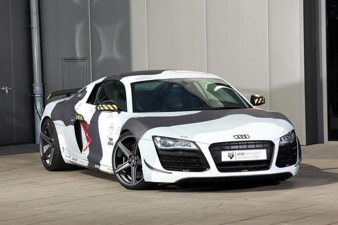 Audi R8 phong cách nhà binh