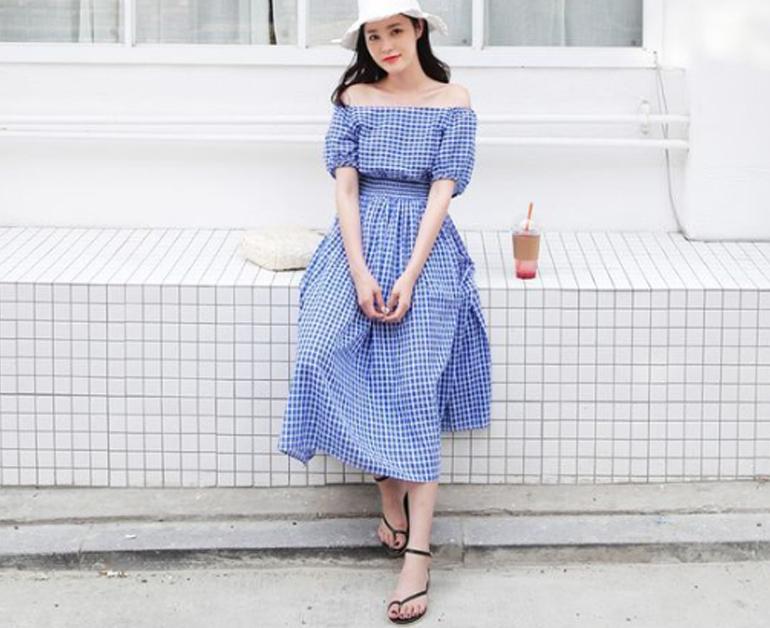 Đầm + giày sandal