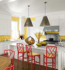 Góc bếp nhiều màu sắc của các căn hộ