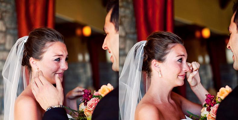 Giọt nước mắt xúc động và hạnh phúc trong lễ cưới