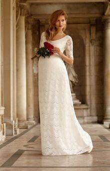 Những chiếc váy cưới thiết kế dành riêng cho cô dâu mang bầu