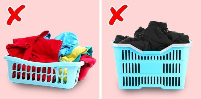 Đừng phân loại màu sắc quần áo khi giặt