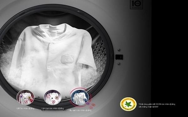 máy giặt hơi nước chống dị ứng