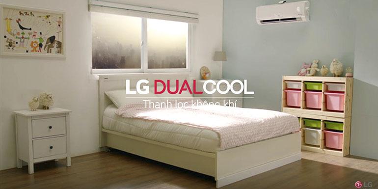 Điều hoà LG Dualcool cho tốc độ làm lạnh nhanh và hiệu quả hơn