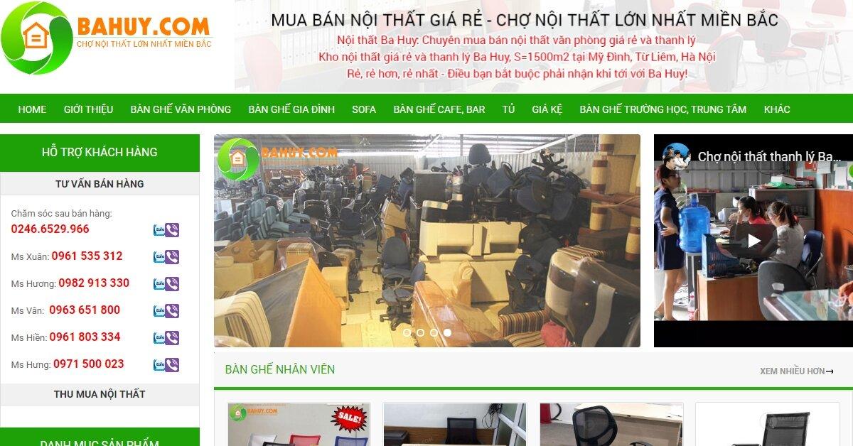 Bahuy.com – Chợ nội thất thanh lý lớn nhất miền Bắc