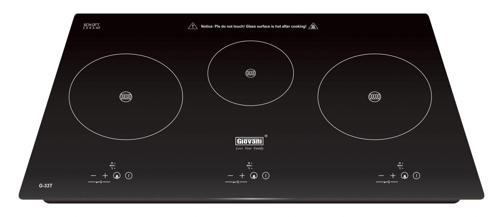 Bảng giá bếp điện từ 3 – 4 vùng nấu Giovani cập nhật tháng 3/2017