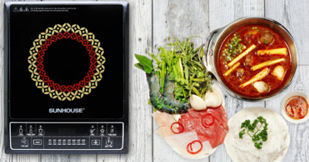 Bảng giá bếp điện từ Sunhouse cập nhật mới nhất tháng 5/2019