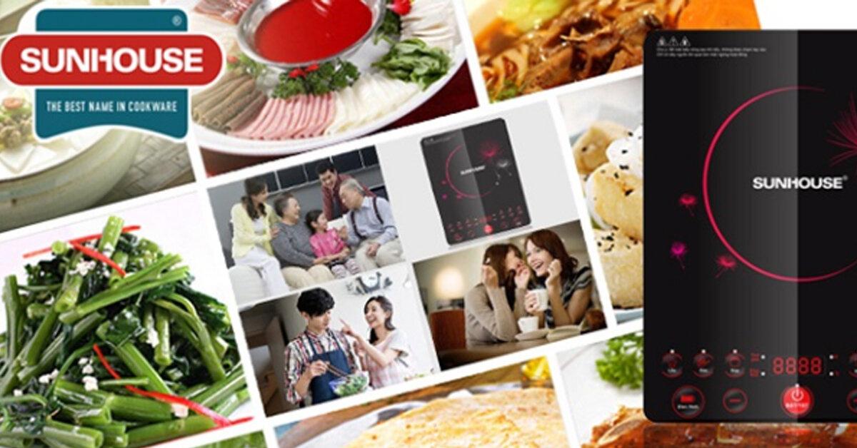 Bảng giá bếp điện từ Sunhouse cập nhật mới nhất tháng 3/2019