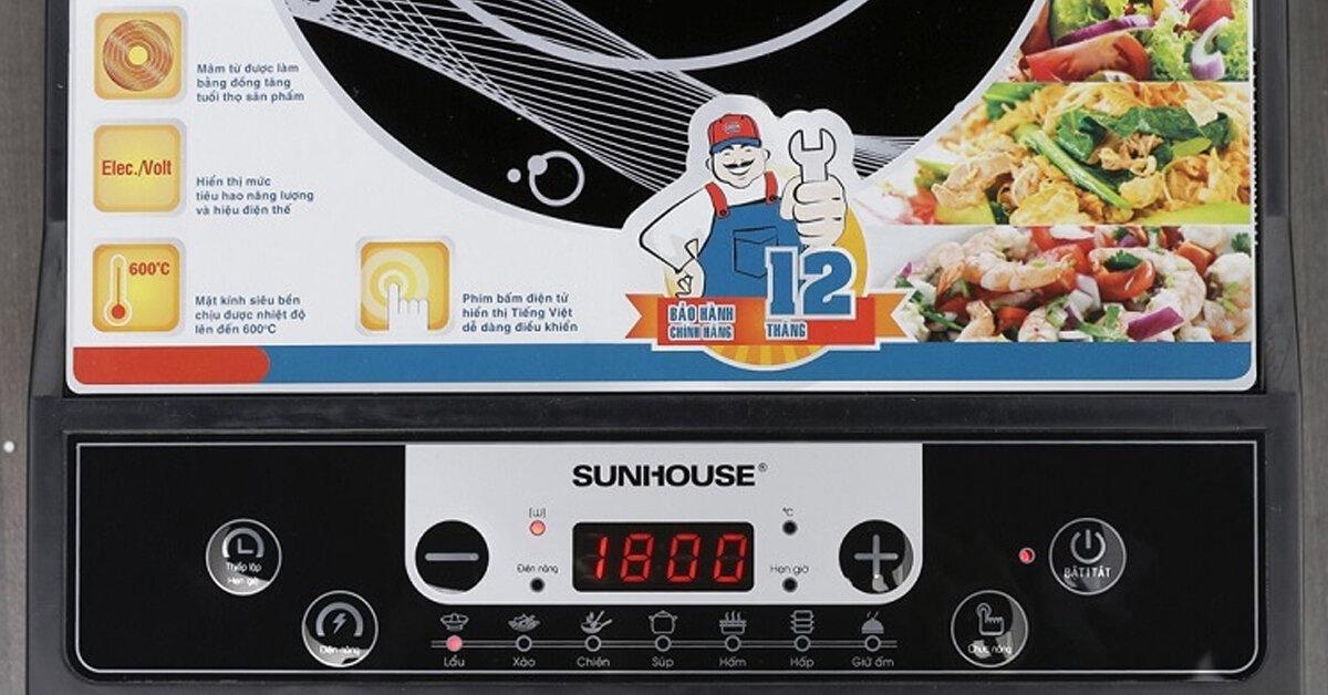 Bảng giá bếp điện từ Sunhouse cập nhật mới nhất tháng 1/2019