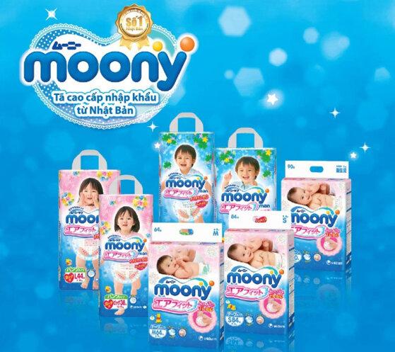 Bảng giá bỉm Moony cập nhật tháng 12/2016
