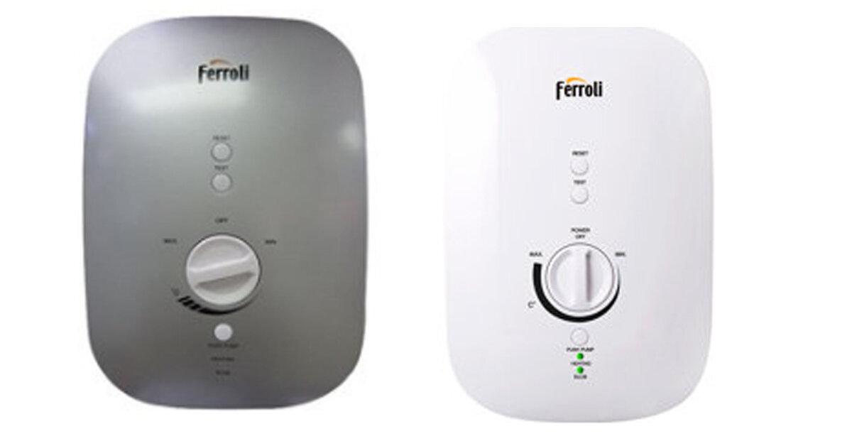 Bảng giá bình tắm nóng lạnh trực tiếp Ferroli cập nhật mới nhất thị trường tháng 12/2018