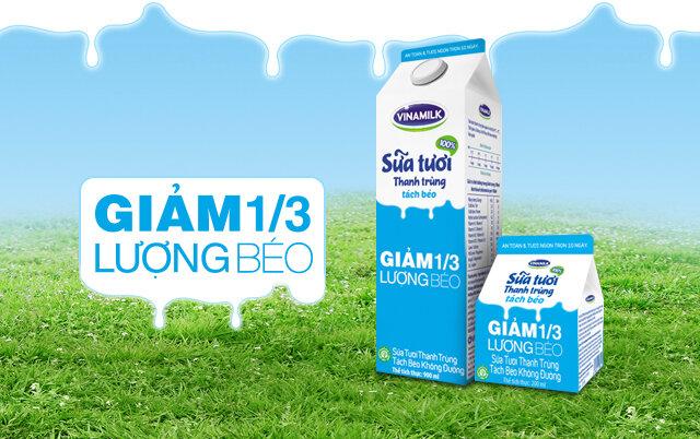 Bảng giá các sản phẩm sữa tươi và sữa chua VINAMILK cập nhật tháng 3/2016
