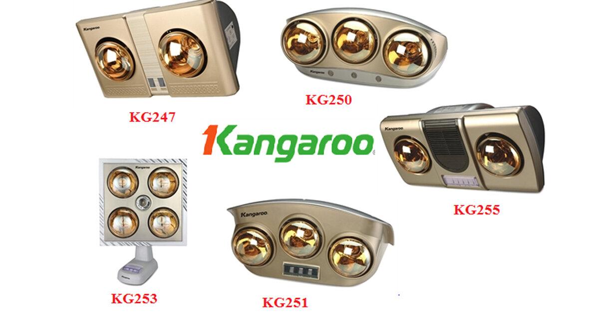 Bảng giá đèn sưởi nhà tắm Kangaroo cập nhật tháng 12/2017