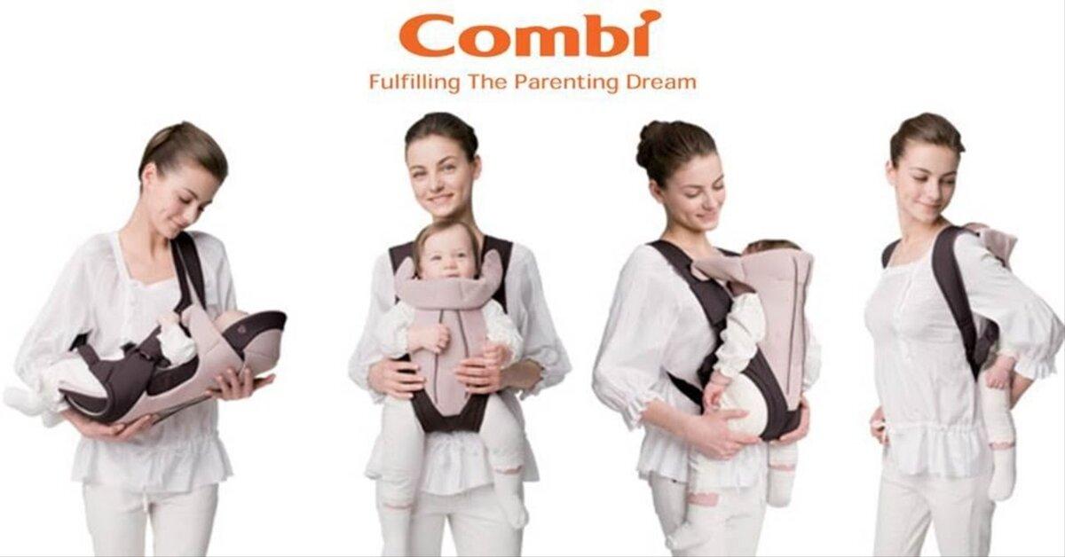 Bảng giá địu em bé Combi cập nhật tháng 1/2019