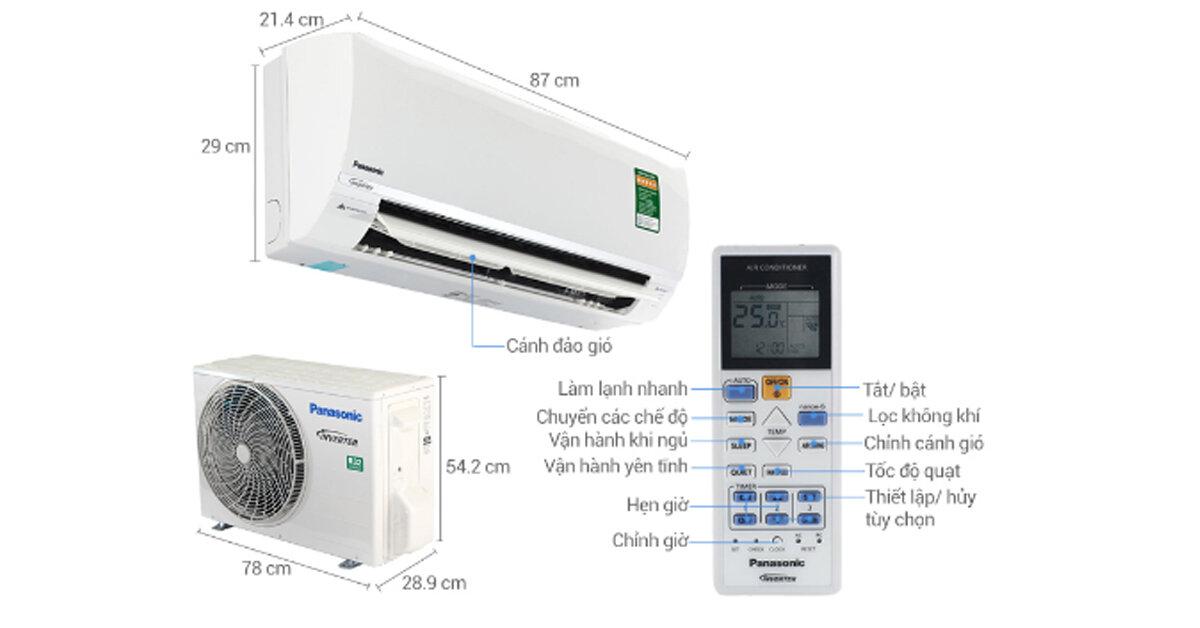 Bảng giá máy lạnh điều hòa Panasonic 2 chiều cập nhât mới nhất 2019