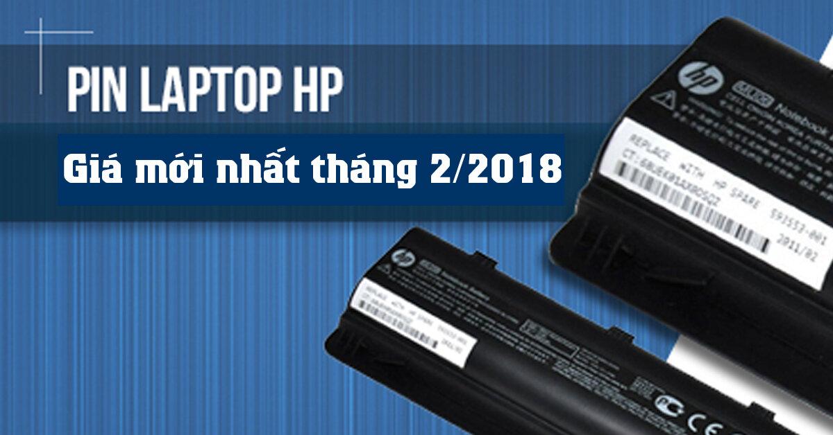 Bảng giá pin laptop HP mới nhất tháng 2/2018