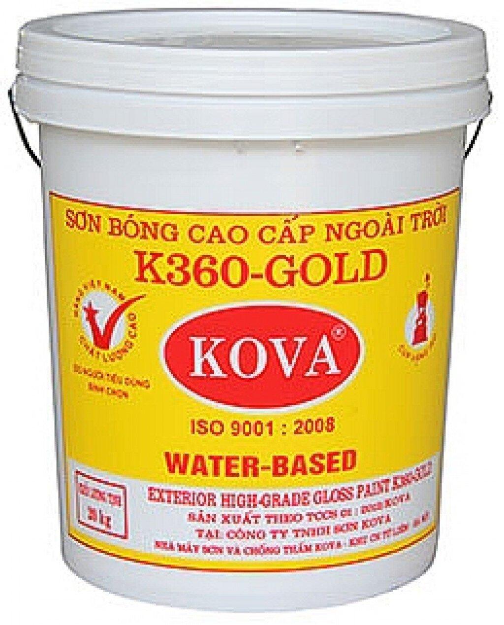 Bảng giá sơn phủ, sơn lót Kova cập nhật 12/2015