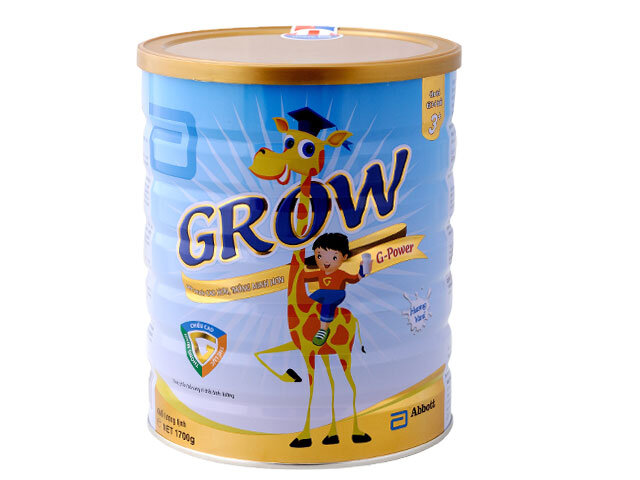 Bảng giá sữa bột Abbott Grow cập nhật tháng 2/2017