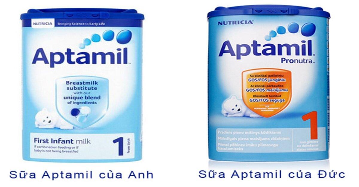 Bảng giá sữa bột Aptamil cập nhật tháng 11/2018