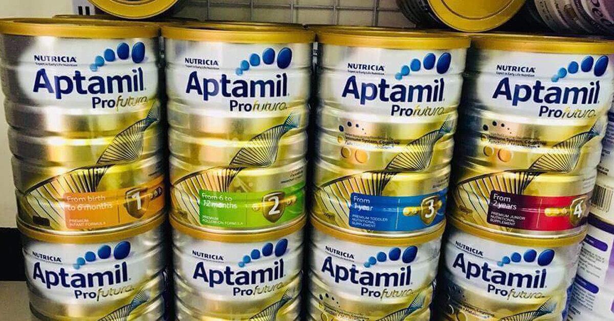 Bảng giá sữa bột Aptamil cập nhật tháng 5/2019