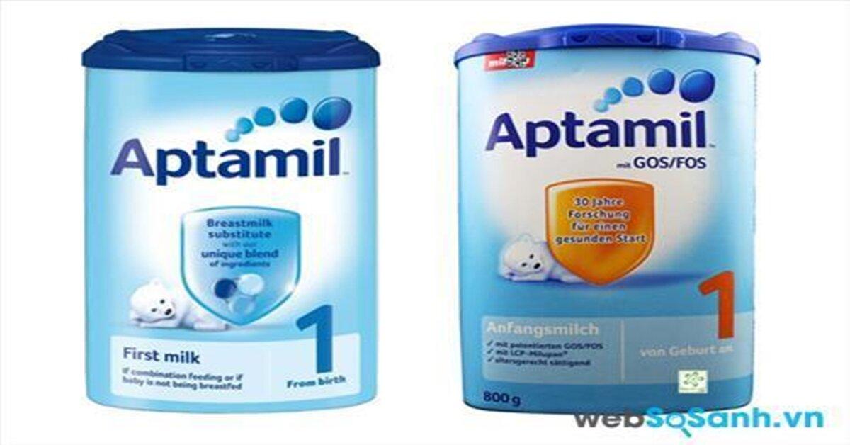 Bảng giá sữa bột Aptamil cập nhật tháng 5/2018