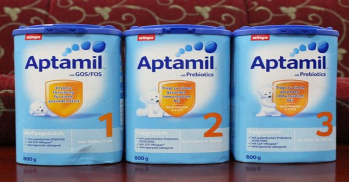 Bảng giá sữa bột Aptamil cập nhật tháng 8/2018