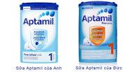 Bảng giá sữa bột Aptamil của Anh và Đức cập nhật tháng 9/2019