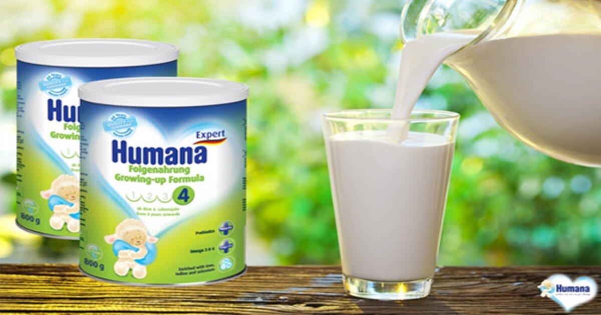 Bảng giá sữa bột, bột ăn dặm HUMANA mới nhất cập nhật tháng 4/2019