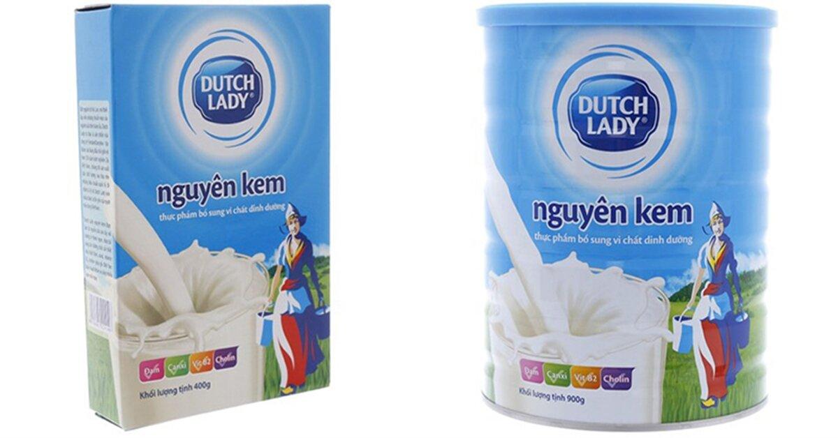 Bàng giá sữa bột Cô gái Hà Lan mới nhất cập nhật tháng 1/2019