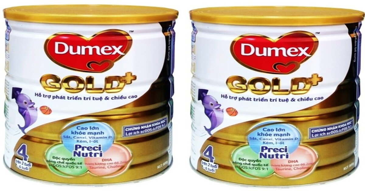 Bảng giá sữa bột Dumex mới nhất cập nhật tháng 8/2018