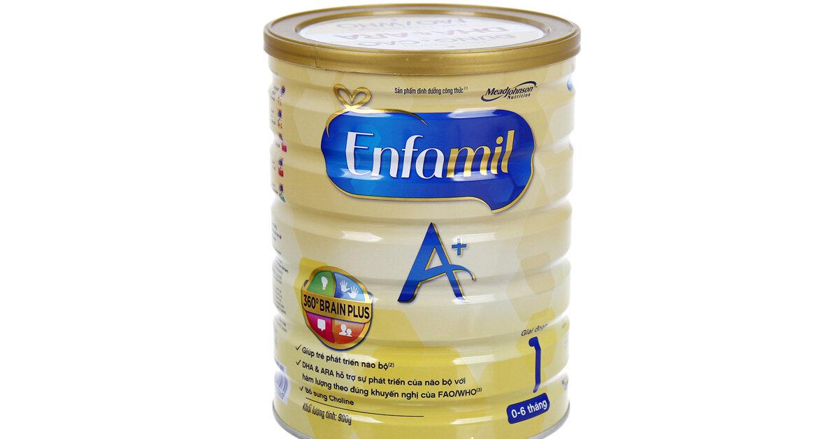 Bảng giá sữa bột Enfamil cập nhật mới nhất tháng 3/2019
