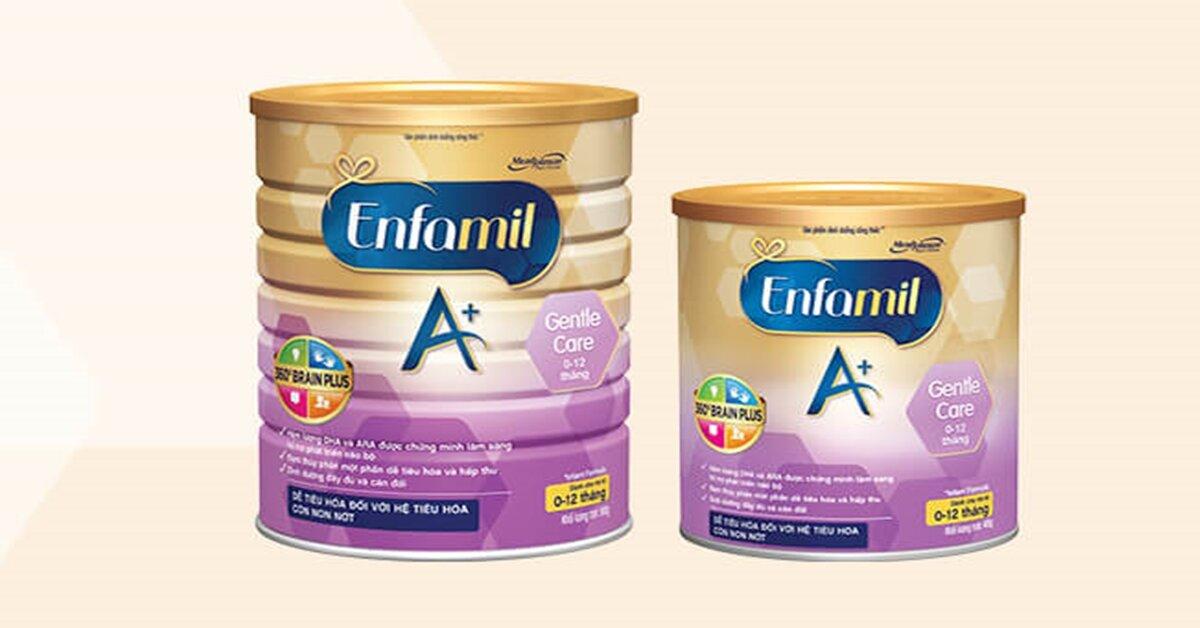 Bảng giá sữa bột Enfamil mới nhất cập nhật tháng 5/2018