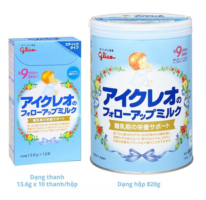 Bảng giá sữa bột Glico Icreo cho bé cập nhật tháng 3/2017
