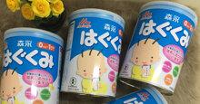Bảng giá sữa bột Morinaga cập nhật mới nhất tháng 10/2019