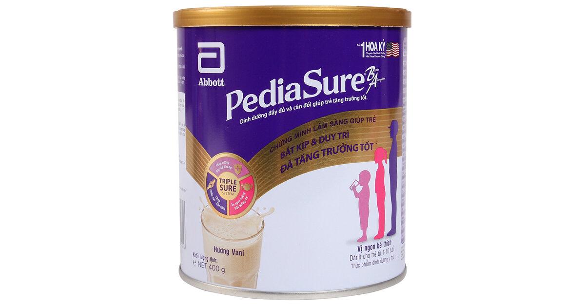 Bảng giá sữa bột Pediasure cập nhật mới nhất tháng 4/2019