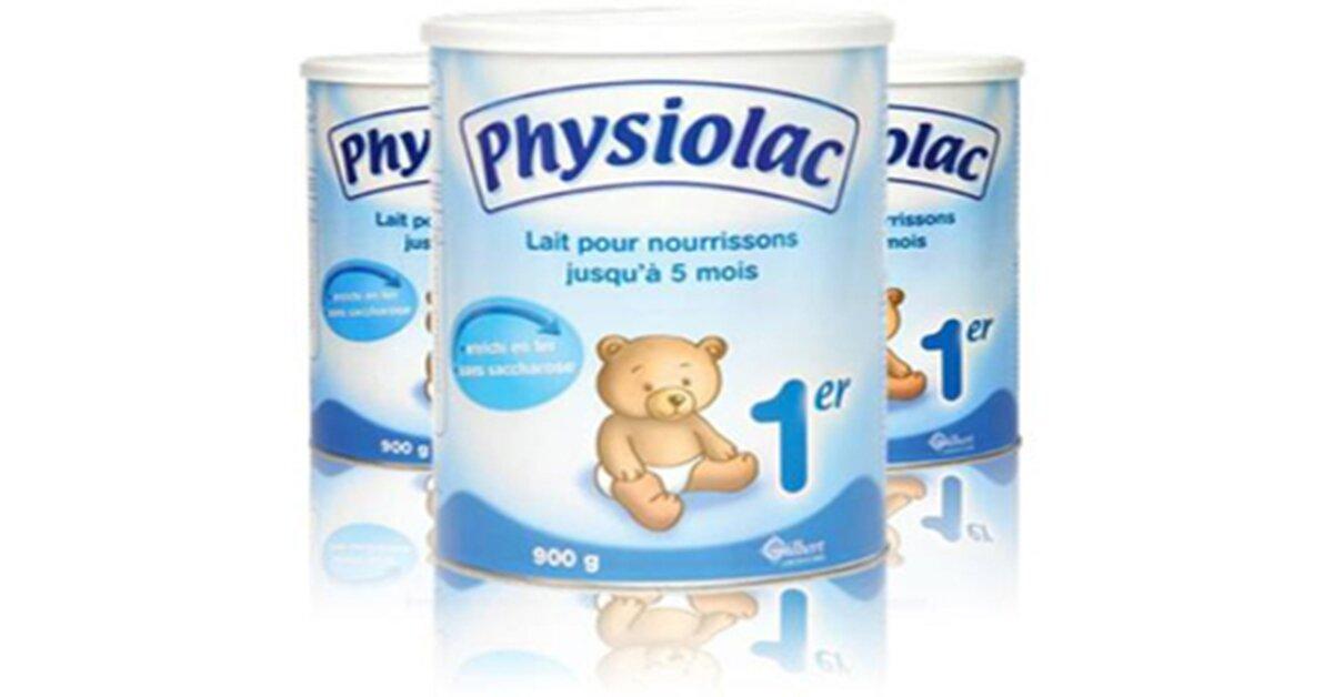 Bảng giá sữa bột Physiolac cập nhật tháng 7/2018