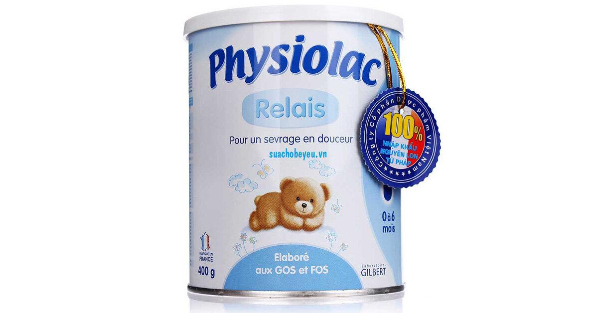 Bảng giá sữa bột Physiolac cập nhật tháng 3/2019