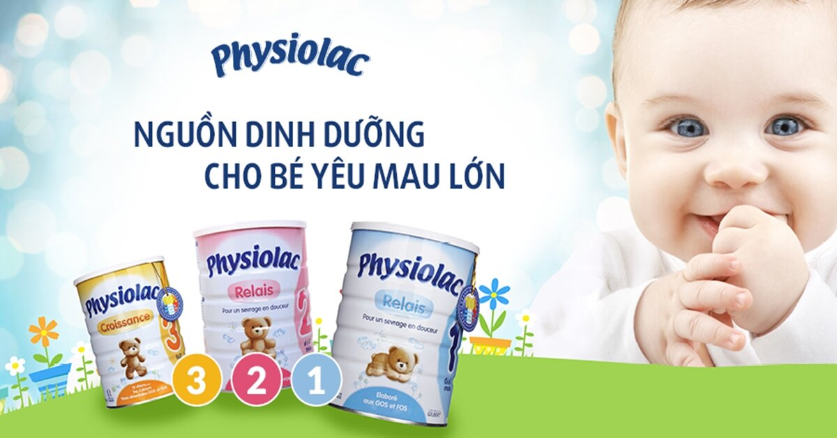 Bảng giá sữa bột Physiolac cập nhật tháng 5/2018