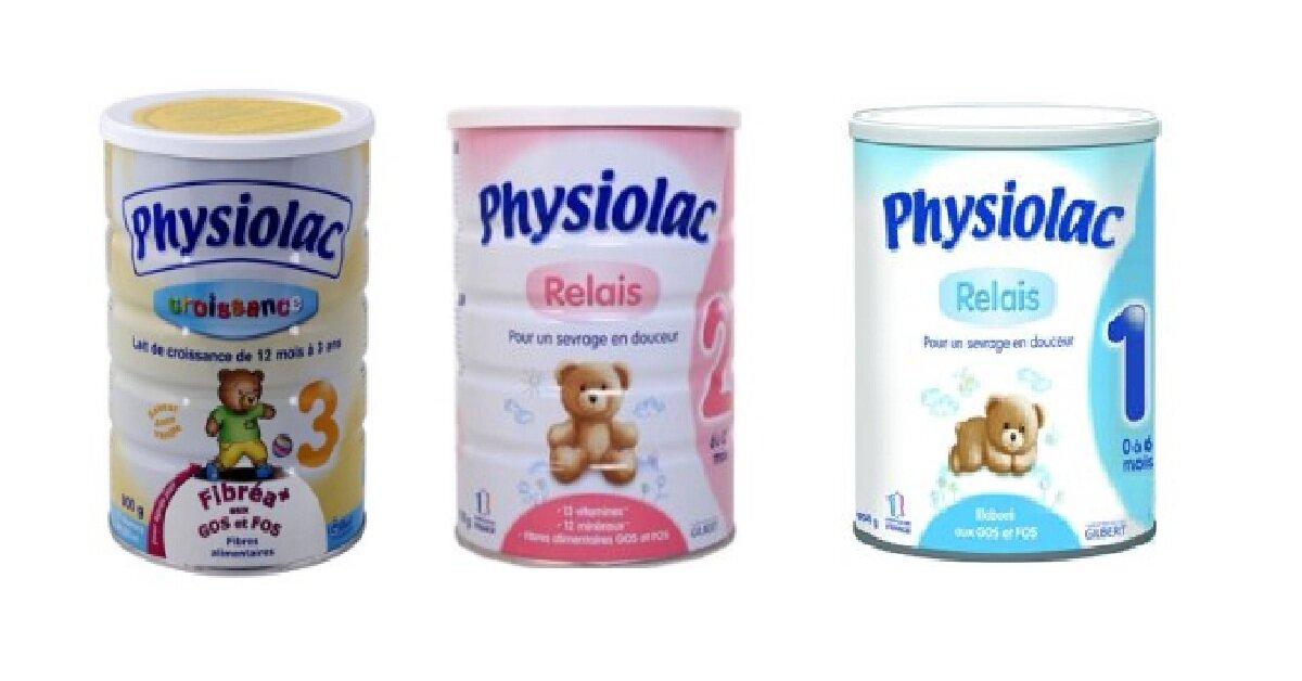 Bảng giá sữa bột Physiolac cập nhật tháng 1/2019