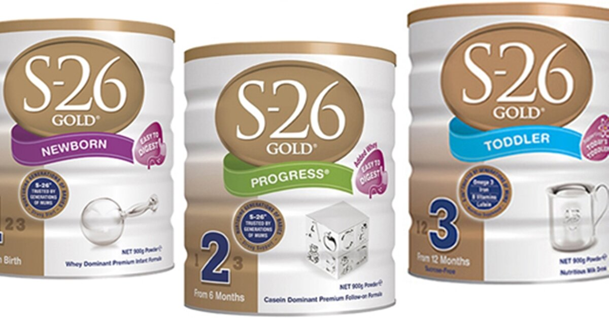 Bảng giá sữa bột S26 mới nhất cập nhật tháng 5/2018