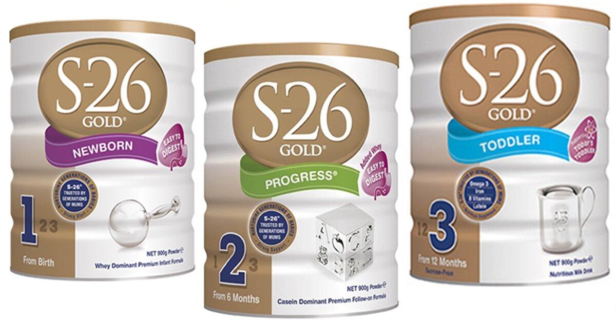 Bảng giá sữa bột S26 mới nhất cập nhật tháng 7/2018