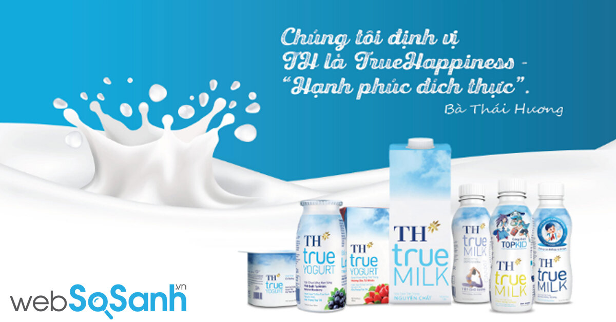 Bảng giá sữa TH true MILK cập nhật mới nhất tháng 11 năm 2018