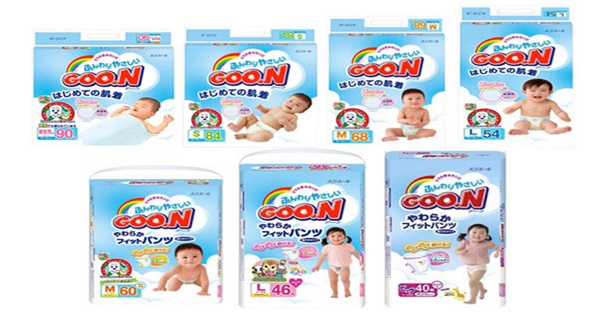 Bảng giá tã dán Goon cập nhật tháng 10/2018